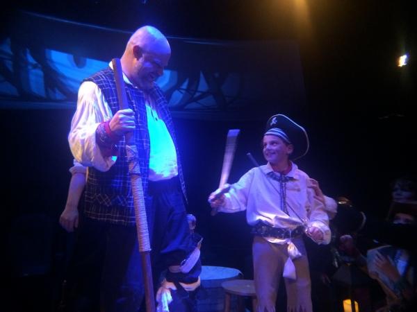 JOHN MUNN (Long John Silver) and MAC HANSEN (Josiah Bland)  Photo
